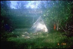 Telttapaikka Vuomajoen varressa 6.7.1999