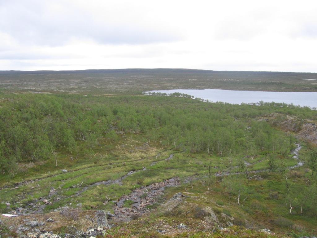 Buolbmatgeasjavri (Ylä-Pulmankijärvi) Adolfin kammin tienoilla 4.7.2009
