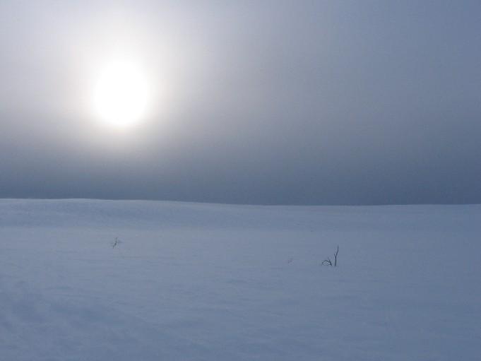 Aurinko Rautuvaaran yllä 22.3.2007