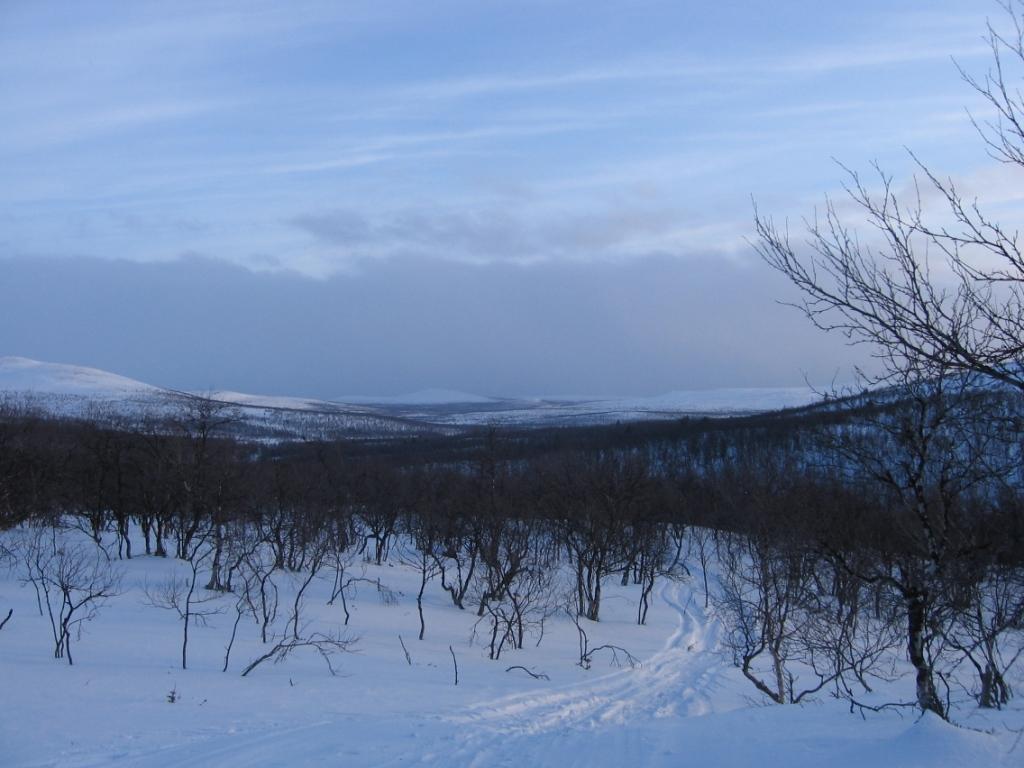 Uhca Avzagasoaivin pohjoisreunalta etelään, kohti Porttikaltiota 8.3.2009