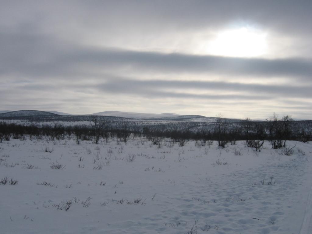 Oadatcohkka ja Oadakkielas pohjoisesta 10.3.2009