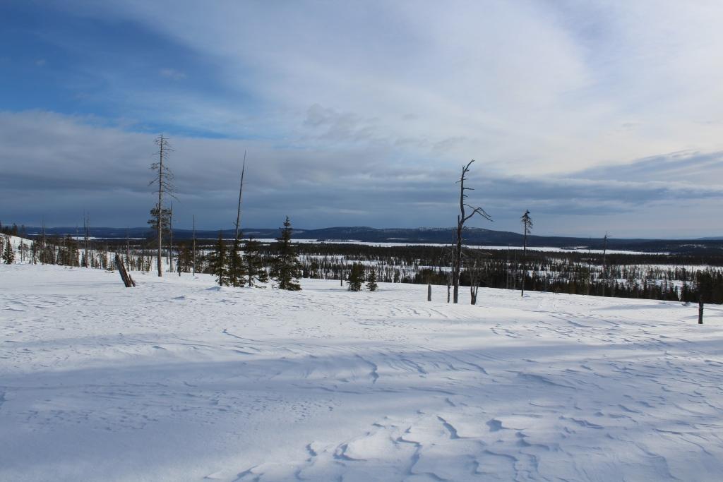 Pahtavaaralta Äkäsjärven suuntaan 23.3.2021