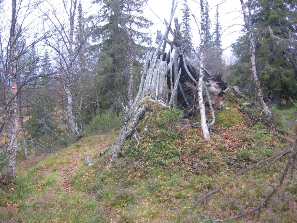 Vanha kota liki Pikku Luirojärveä 22.9.2008